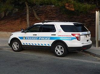 Massachusetts Bay Transportation Authority Police - Ford Police Interceptor Utility of MBTA Police, 2016