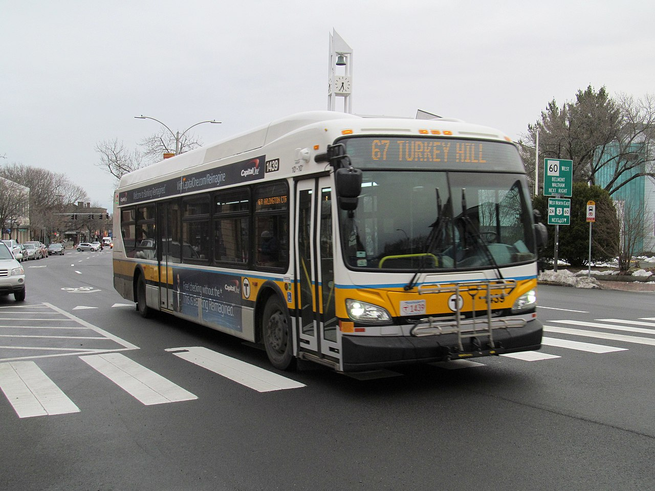 File Mbta Route 67 Bus In Arlington Center March 2017 Jpg