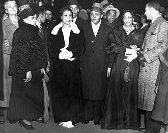 Rose McClendon - McClendon, second from right, at the opening of Macbeth (April 14, 1936)