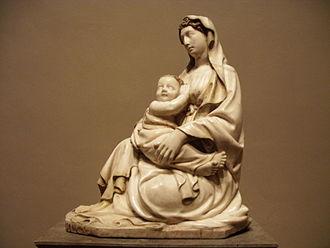 Jacopo della Quercia - Madonna of humility, marble, c. 1400