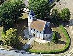 Magyarszecsőd, a római katolikus templom légi fotón.jpg