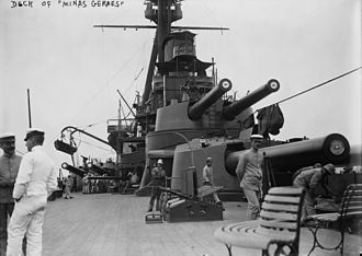 Revolt of the Lash - The main deck onboard Minas Geraes