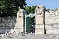 Main gate of the Père-Lachaise Cemetery, Paris 13 June 2014.jpg