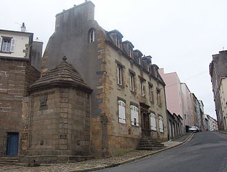 Brest, France - The Maison de la Fontaine in Recouvrance, one of the oldest houses of Brest (end of the 17th century, beginning of the 18th century).