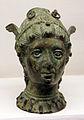 Man firenze, testine di bronzo etrusche per reggere specchi 02.JPG