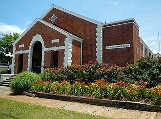 Manchester, Georgia - The Manchester Community Building was added to the National Register of Historic Places on January 28, 2002.
