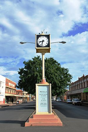 Manilla, New South Wales - Clock tower in the main street