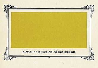 Album primo-avrilesque - Image: Manipulation de l'ocre par des cocus ictériques