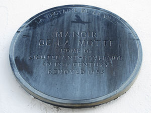 Moses Corbet - Plaque on site of former Government House where Moses Corbet was captured by French invading forces on 6 January 1781