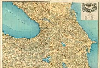 Caucasus Viceroyalty (1801–1917) - Image: Map 1903 caucasus