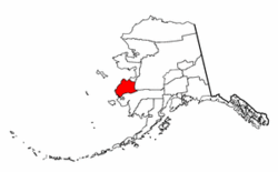 Map of Alaska highlighting Wade Hampton Census Area.png