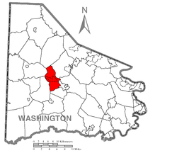 Location of Canton Township in Washington County