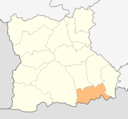 Location in Blagoevgrad province Location on map of Bulgaria
