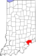 Map of Indiana highlighting Jefferson County.svg