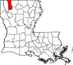 State map highlighting Webster Parish