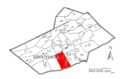 Map of Schuylkill County, Pennsylvania Highlighting Wayne Township.PNG