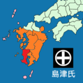 Map of Shimazu clan 1586.png