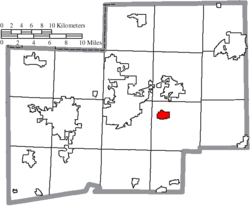 Location of East Canton in Stark County