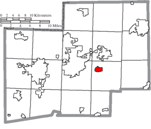 East Canton, Ohio - Image: Map of Stark County Ohio Highlighting East Canton Village