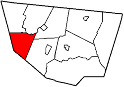 Map of Sullivan County, Pennsylvania highlighting Hillsgrove Township