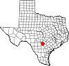 State map highlighting Bexar County
