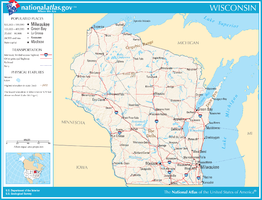 Kaart van State of Wisconsin