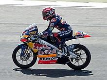 Márquez sulla Derbi RSA 125 del team Red Bull Ajo Motorsport nel 2010.
