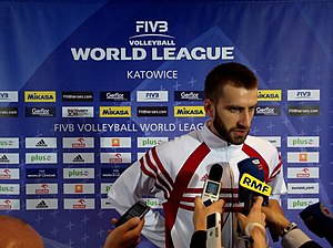 Marcin Możdżonek - Marcin Możdżonek after match Poland-USA at Spodek in Katowice (World League 2012).