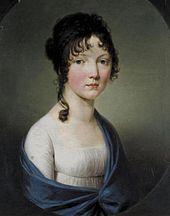 Die etwa 18-jährige Marie von Baden, spätere Ehefrau Friedrich-Wilhelms. (Quelle: Wikimedia)