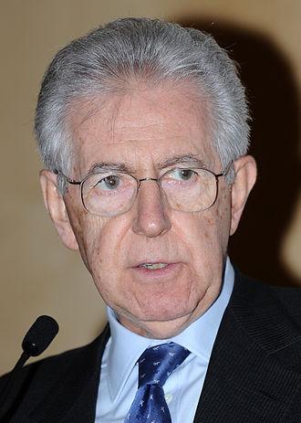Italian Minister of Economy and Finances - Image: Mario Monti Terre alte 2013