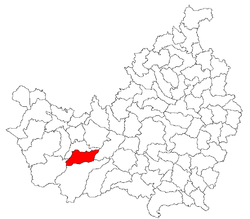 Location of Comuna Mărişel