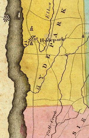 Maritje Kill - The Maritje Kill, between Crum Elbow Creek and Fall Kill, 1829