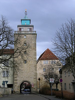 Markgröningen - Oberer Torturm, the only remaining town gate, dating to 1555