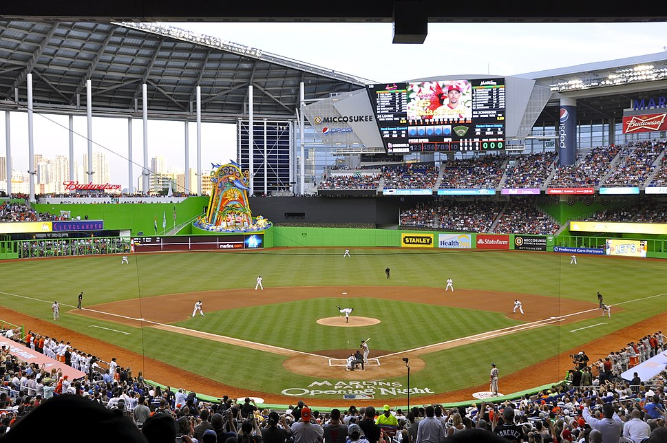 Marlins First Pitch at Marlins Park, April 4, 2012