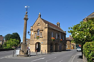 Martock - Market House and cross