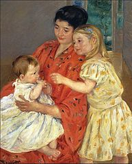 Mother and two children - 1901