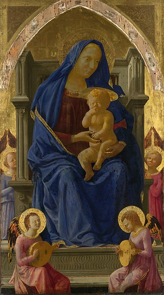 Pisa Altarpiece - Madonna and Child with Angels, 135.5 cm x 75 cm, National Gallery, London