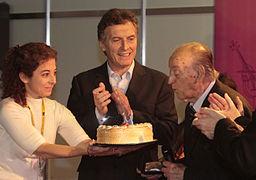 Mauricio Macri participó del homenaje al cantante Juan Carlos Godoy por sus 90 años (7839610098)
