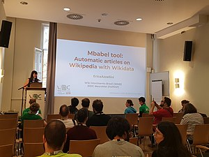 Mbabel tool - automatic articles on Wikipedia with Wikidata.jpg