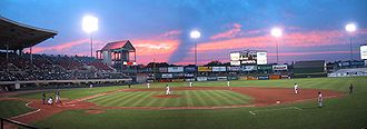 Pawtucket, Rhode Island - A night game in 2002 at McCoy Stadium