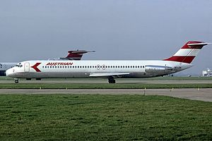 Austrian Airlines - Austrian Douglas DC-9 in 1982