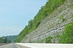 Cliffs along State Route 7