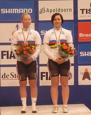 Australia at the UCI Track Cycling World Championships - Anna Meares and Kaarle McCulloch won the gold medal in the women's team sprint in 2011.