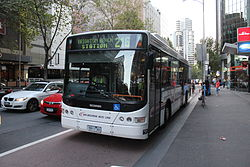 Melbourne Bus Link (5911 AO) Scania in Queen Street on route 216, 2013.JPG