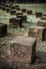 Memorial stone blocks, 228 Memorial Park, Chiayi City (Taiwan).jpg