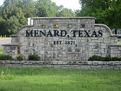 Menard welcome sign