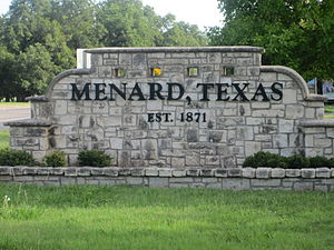 Menard, Texas - Menard welcome sign