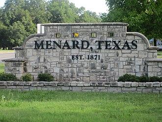 Menard, Texas - Menard welcome sign