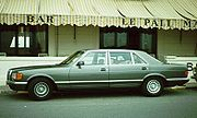 1981 Mercedes-Benz W126 SEL (ie Long wheel base version) in profile