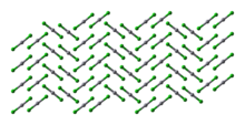 Ball-and-stick model of the crystal structure